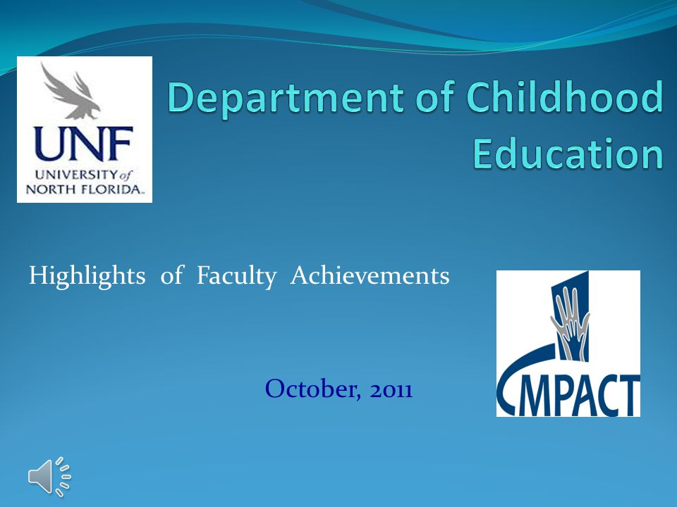 Highlights of Faculty Achievements October, 2011