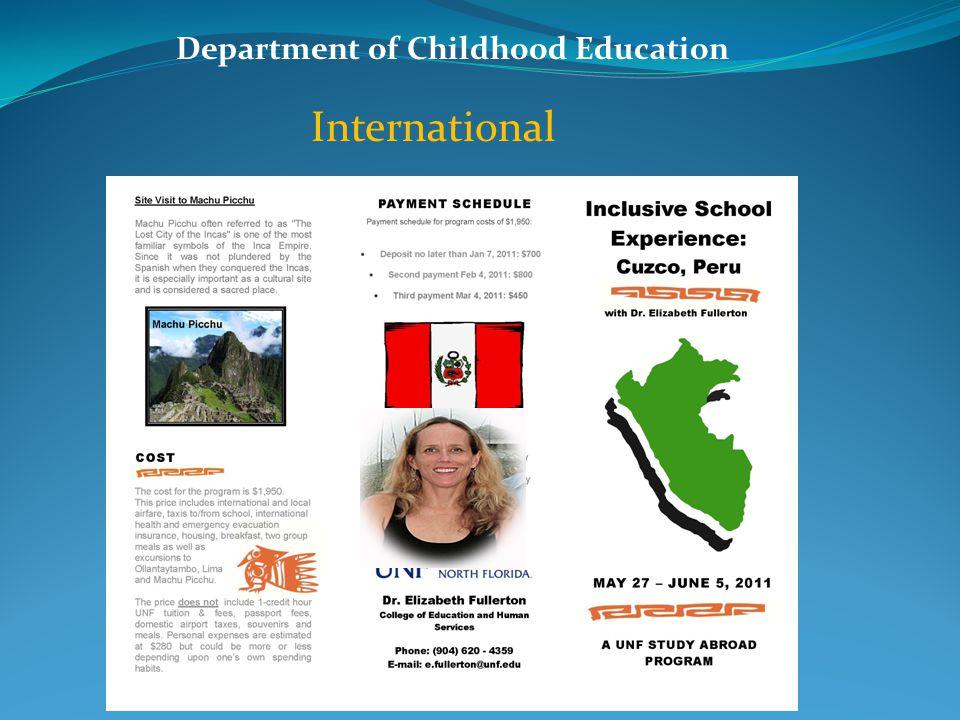 Department of Childhood Education Dr.John R.