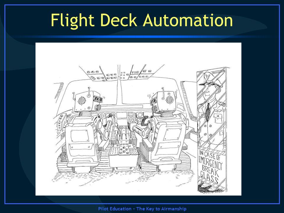 Pilot Education – The Key to Airmanship Flight Deck Automation