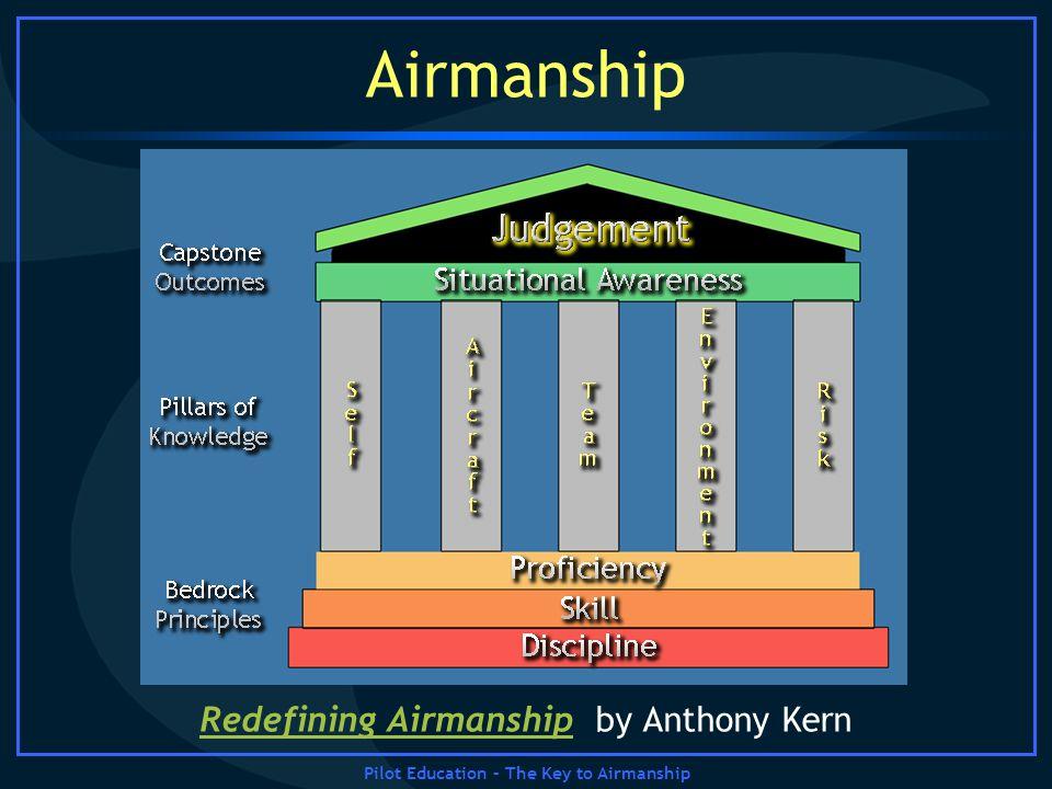 Pilot Education – The Key to Airmanship Airmanship Redefining AirmanshipRedefining Airmanship by Anthony Kern