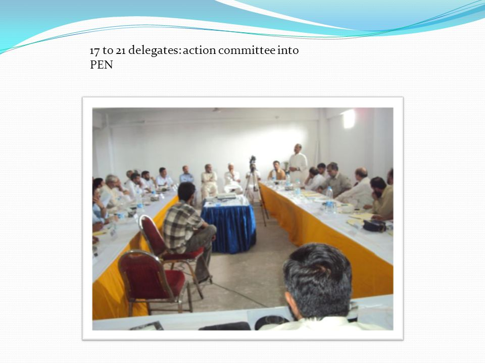 17 to 21 delegates: action committee into PEN