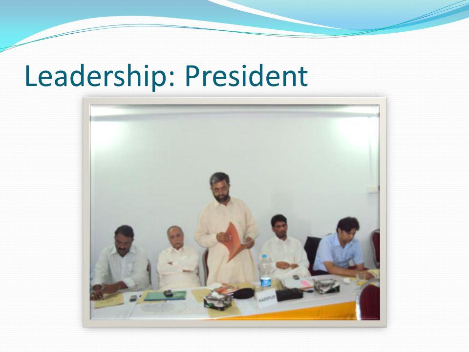 Leadership: President