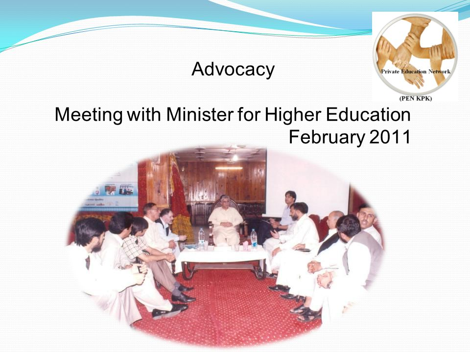 Advocacy Meeting with Minister for Higher Education February 2011