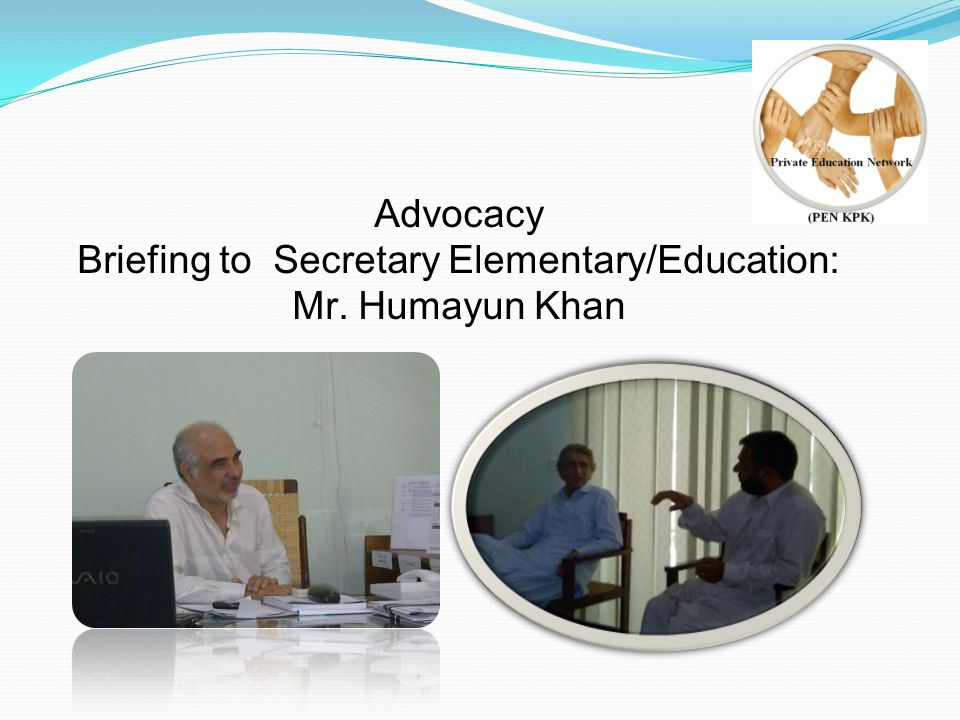 Briefing to Provincial Ministers: Qazi Muhammad Asad & Shuja Ahmed Khan 12 September 2012