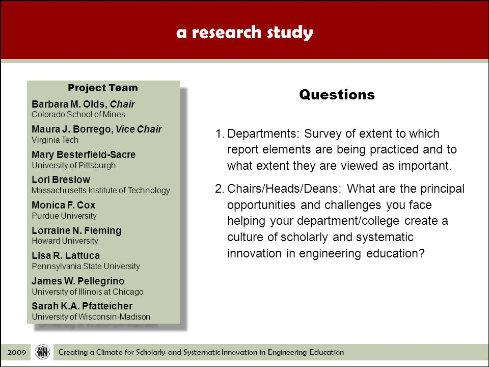 Creating a Climate for Scholarly and Systematic Innovation in Engineering Education Departments: Survey of extent to which report elements are being practiced and to what extent they are viewed as important.