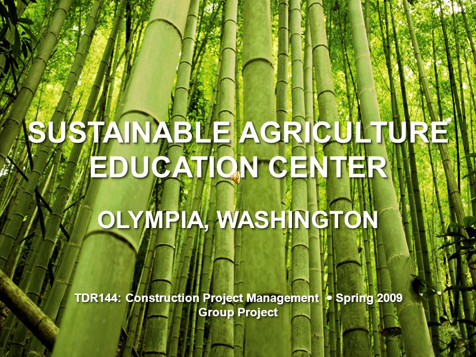 Project Name: Sustainable Agriculture Education Center Project Name: Sustainable Agriculture Education Center Category:Education & Recreation Category:Education & Recreation Type:Community Center Type:Community Center Target Group:Students & Community PROGRAMMINGPROGRAMMING