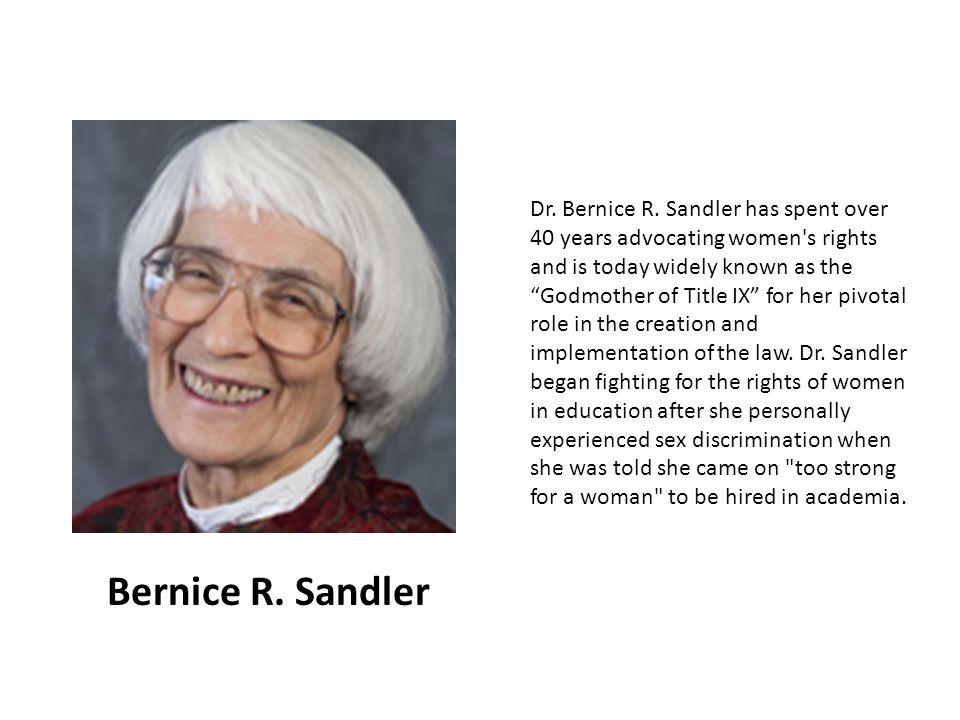 Dr. Bernice R.