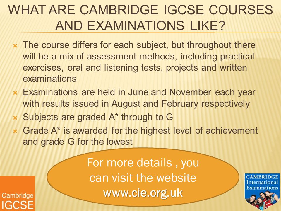WHAT ARE CAMBRIDGE IGCSE COURSES AND EXAMINATIONS LIKE.