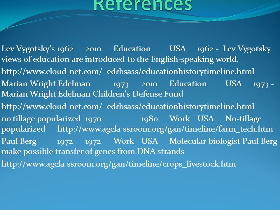 Elementary and Secondary Education Act (ESEA)Apr 09 19652002 EducationUSA1965 - The Elementary and Secondary Education Act (ESEA)http://www.cloud net.com/~edrbsass/educationhistorytimeline.html Herbert R.