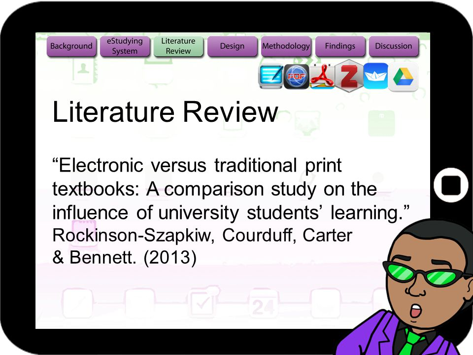 Electronic versus traditional print textbooks: A comparison study on the influence of university students learning.