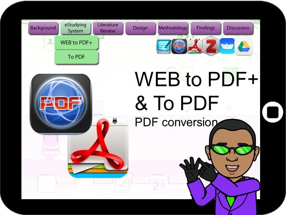 WEB to PDF+ & To PDF PDF conversion