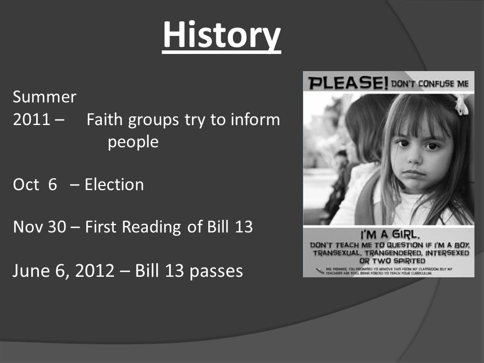 BILL 13 - What is the Intent.Hon.