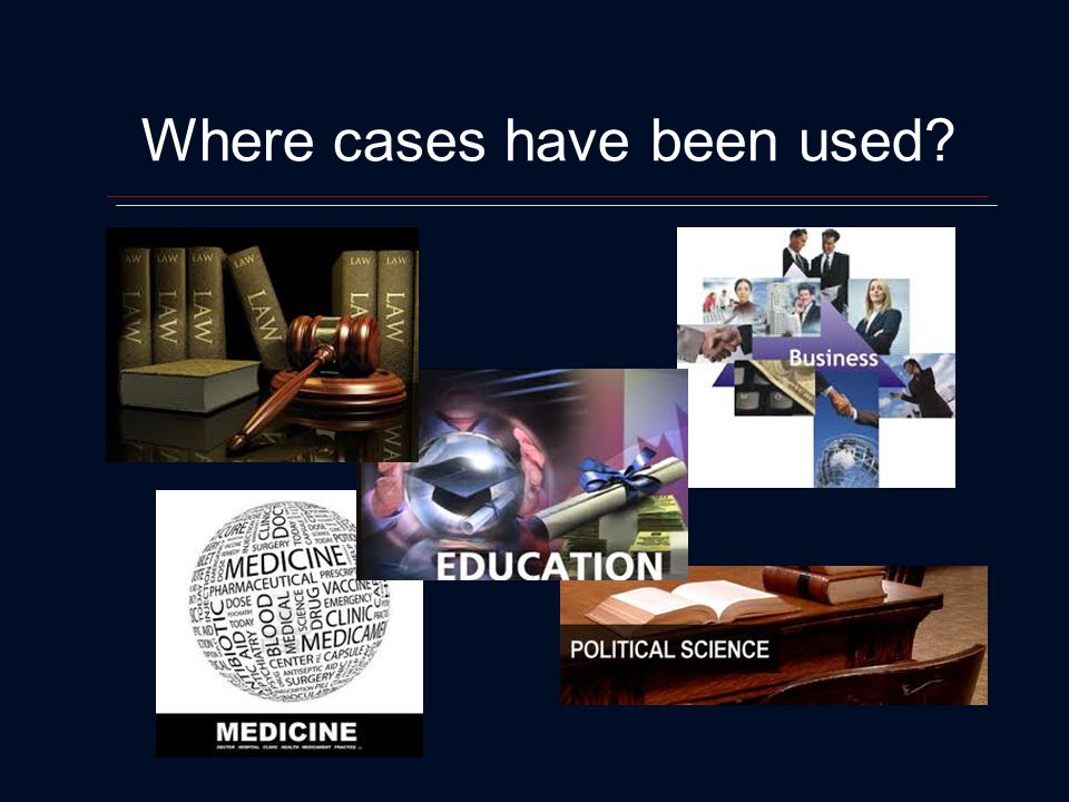 Where cases have been used?