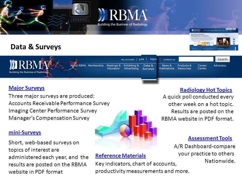Exhibiting & Advertising Marketing & Promotions RBMA Bulletin Advertising Annual Meetings Sponsorships Marketing Vehicles For Corporate Members Every member receives the RBMA Bulletin.