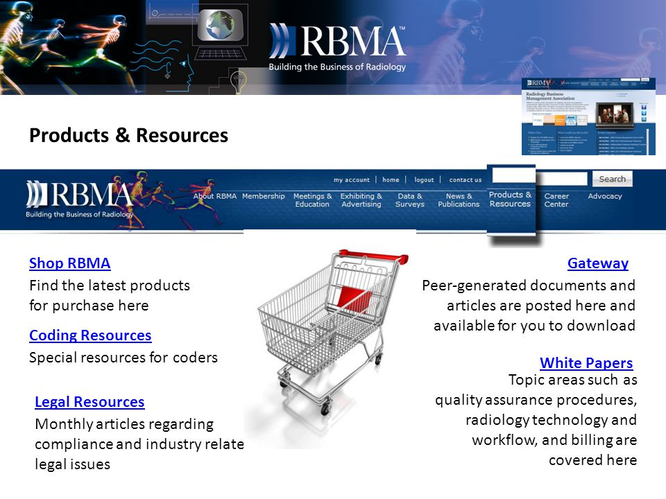 News & Publications RadCast RBMA Bulletin Press Releases Tradeshows RBMAs bimonthly journal archives from 2005 to the current issue Find out where RBMA will be exhibiting RBMA in the news RBMAs weekly electronic newsletter archive.