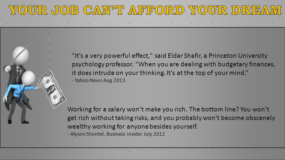 It s a very powerful effect, said Eldar Shafir, a Princeton University psychology professor.