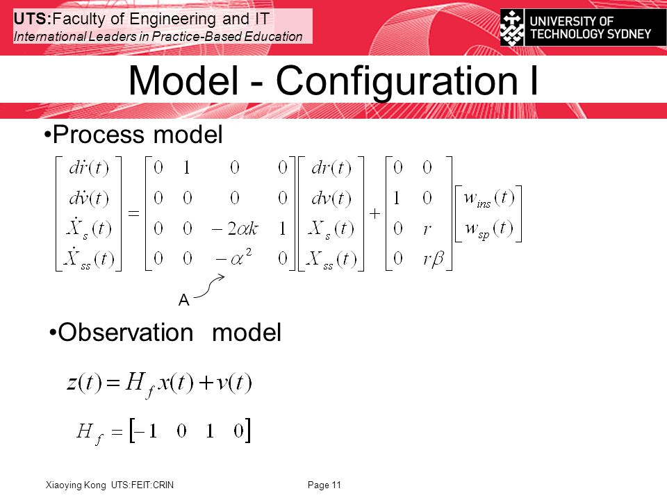 UTS:Faculty of Engineering and IT International Leaders in Practice-Based Education Model - Configuration I Xiaoying Kong UTS:FEIT:CRINPage 11 Process model Observation model A