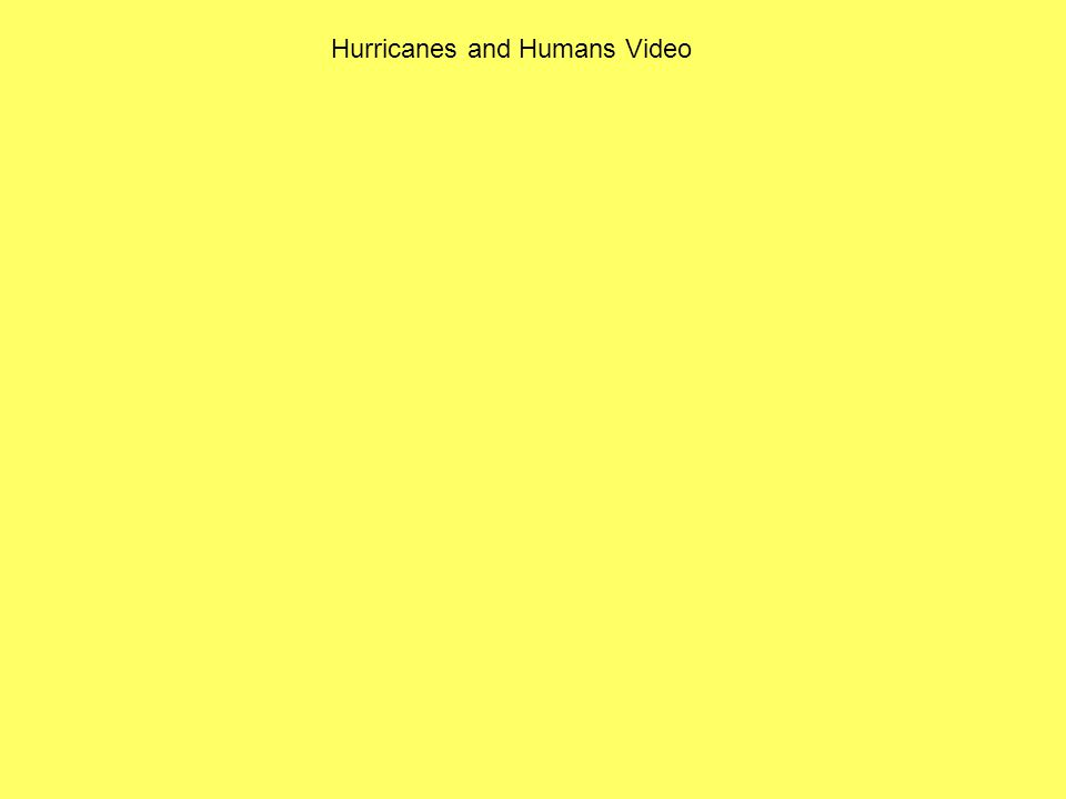 Hurricanes and Humans Video