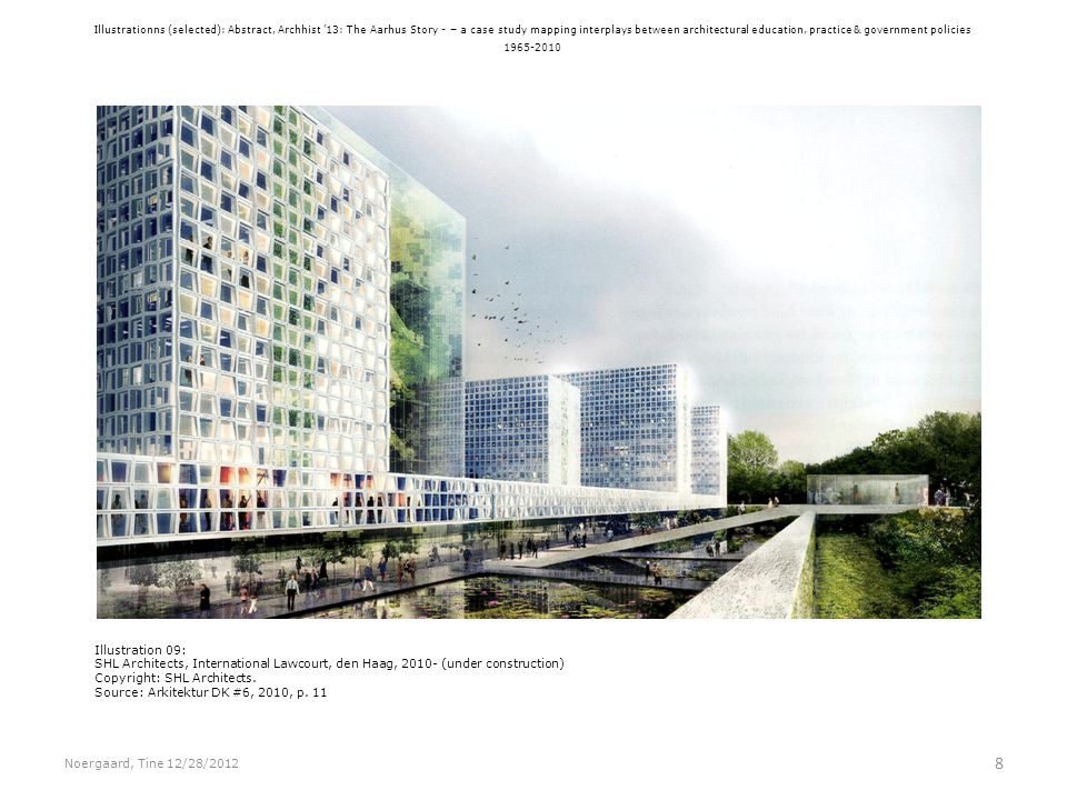 Illustrationns (selected): Abstract, Archhist 13: The Aarhus Story - – a case study mapping interplays between architectural education, practice & gov