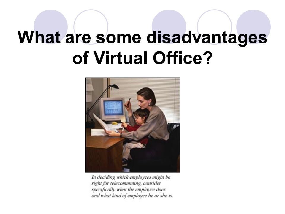 What are some disadvantages of Virtual Office?