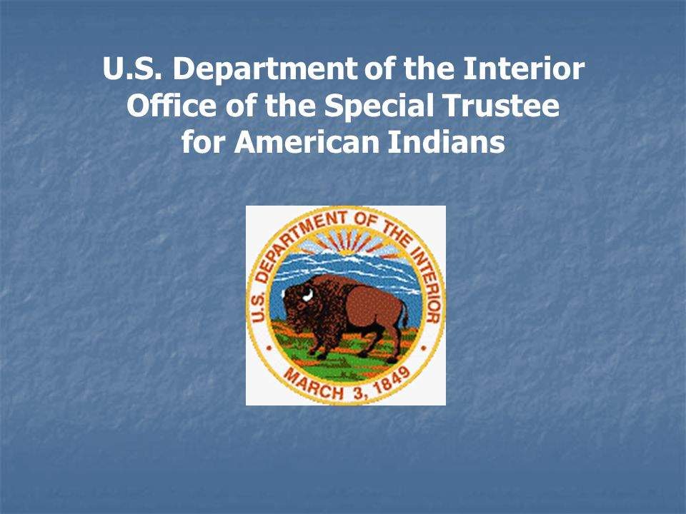 American Indian Trust Fund Management Reform Act of 1994 (Public Law 103-412) Enacted to improve the management and accountability of Indian trust funds administered by the Department of Interior.