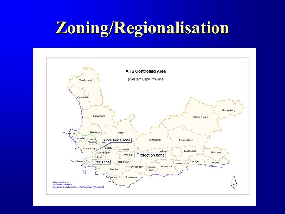 Zoning/Regionalisation