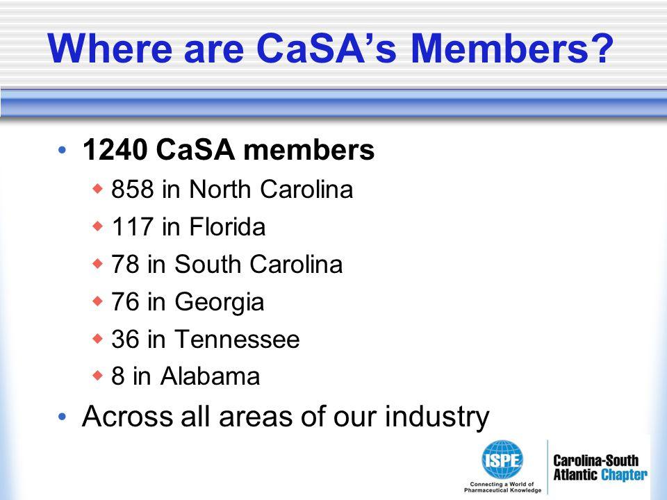 Where are CaSAs Members.