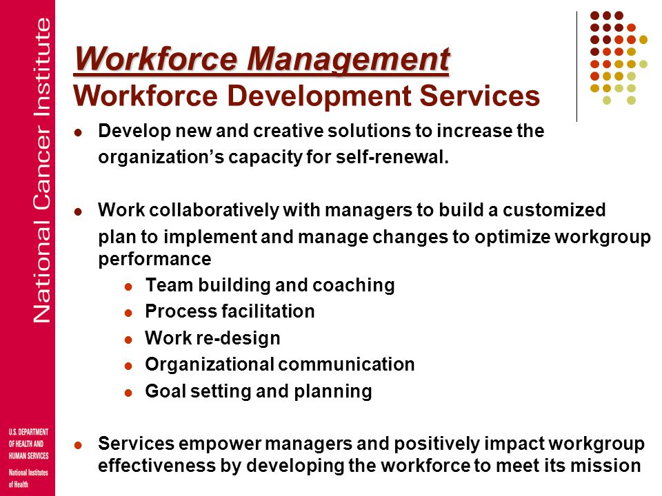 Human Capital Planning Recruitment Pipeline Programs Employee Development Quality of Work/life Workforce Management Thinking Strategically