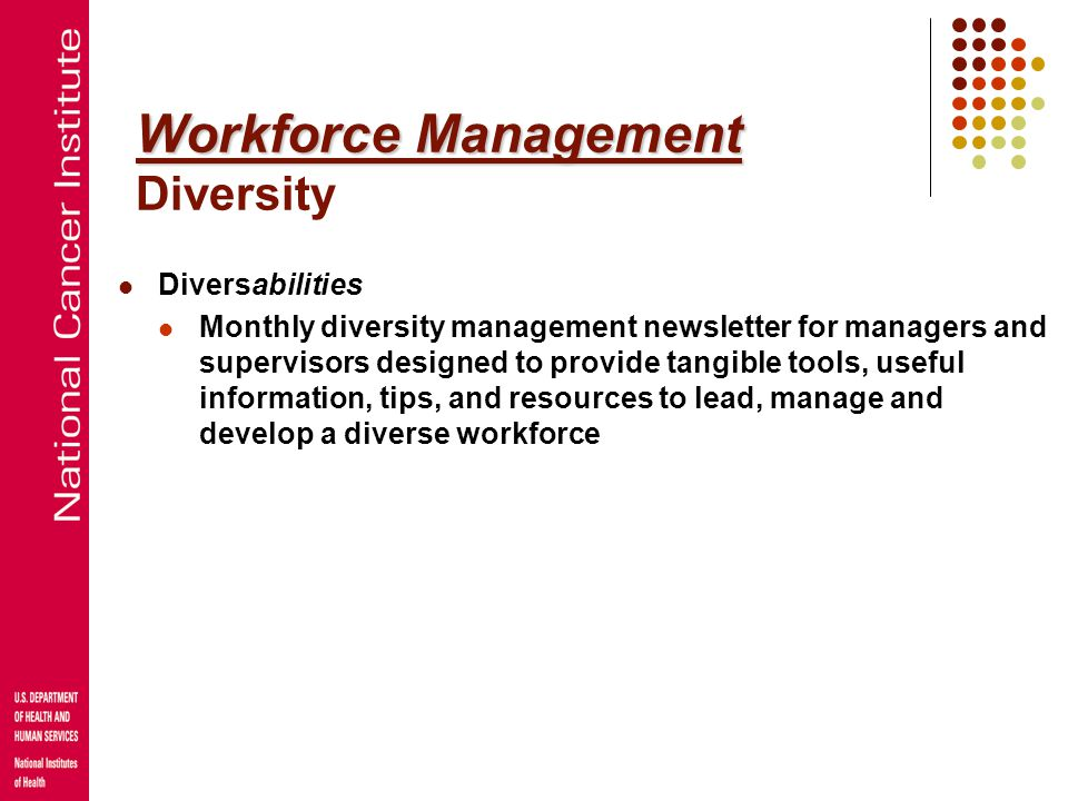 Workforce Management Workforce Management Coaching for Conflict Management Coach managers in dealing with workplace conflict Facilitate difficult conv