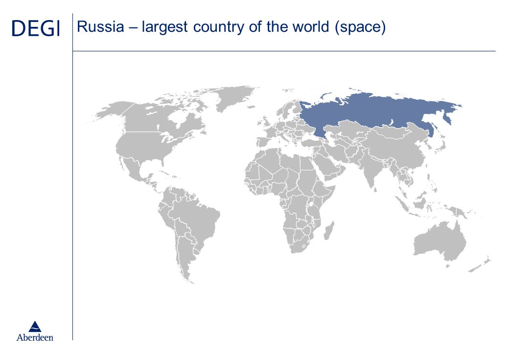 Russia – largest country of the world (space)