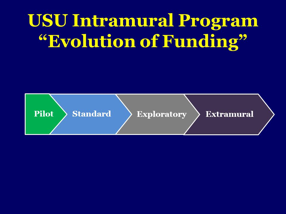 Start Up Funding Year 1Year 2Year 3Year 4Year 5 Equipment Personnel Supplies Apply for Extramural Funding Eligible to apply for Standard Intramural Funding Mr.