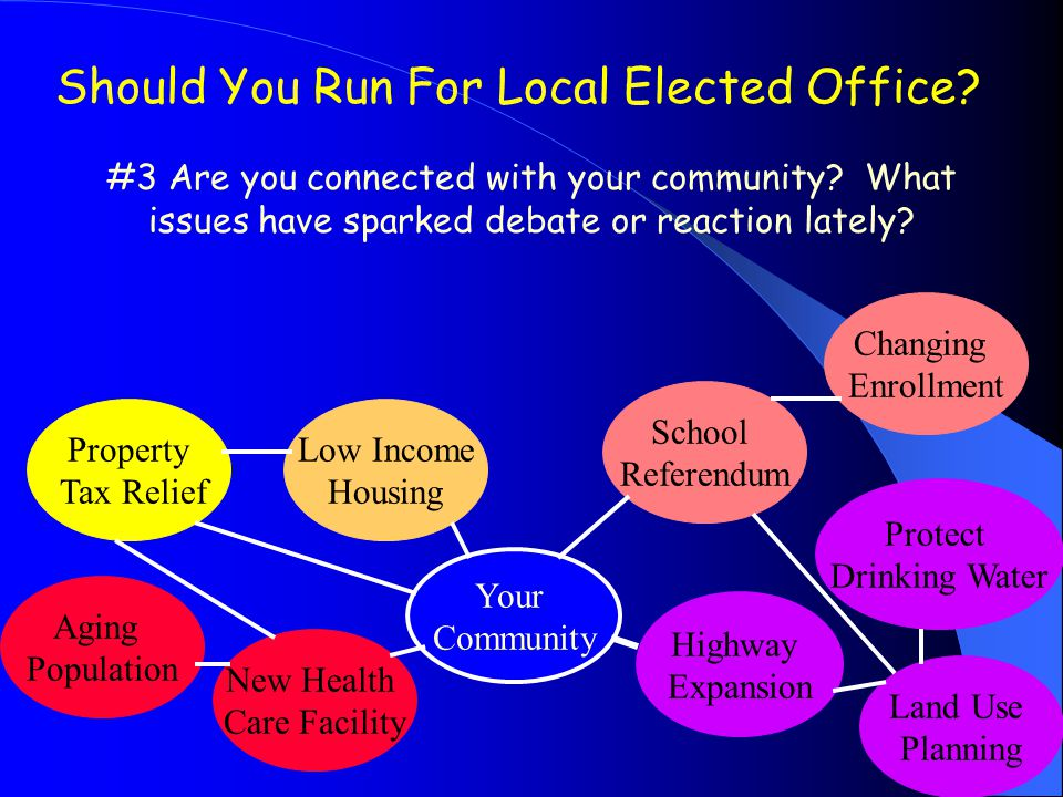 Should You Run For Local Elected Office. #3 Are you connected with your community.