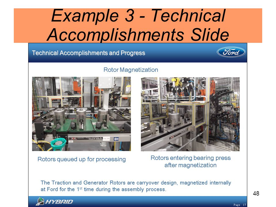 48 Example 3 - Technical Accomplishments Slide