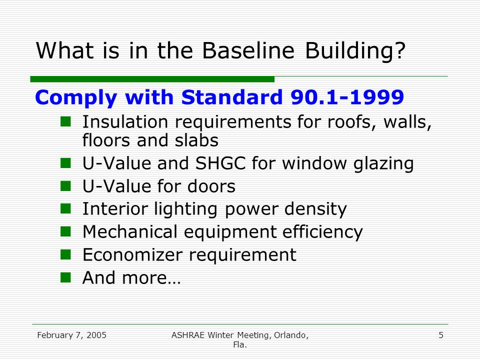 February 7, 2005ASHRAE Winter Meeting, Orlando, Fla.