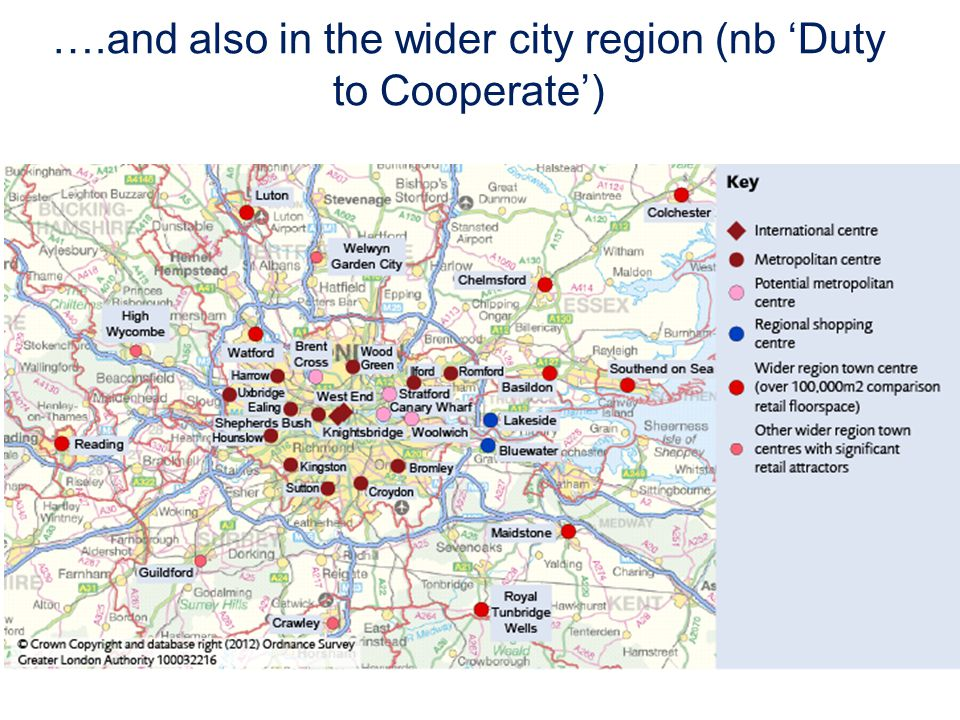 ….and also in the wider city region (nb Duty to Cooperate)