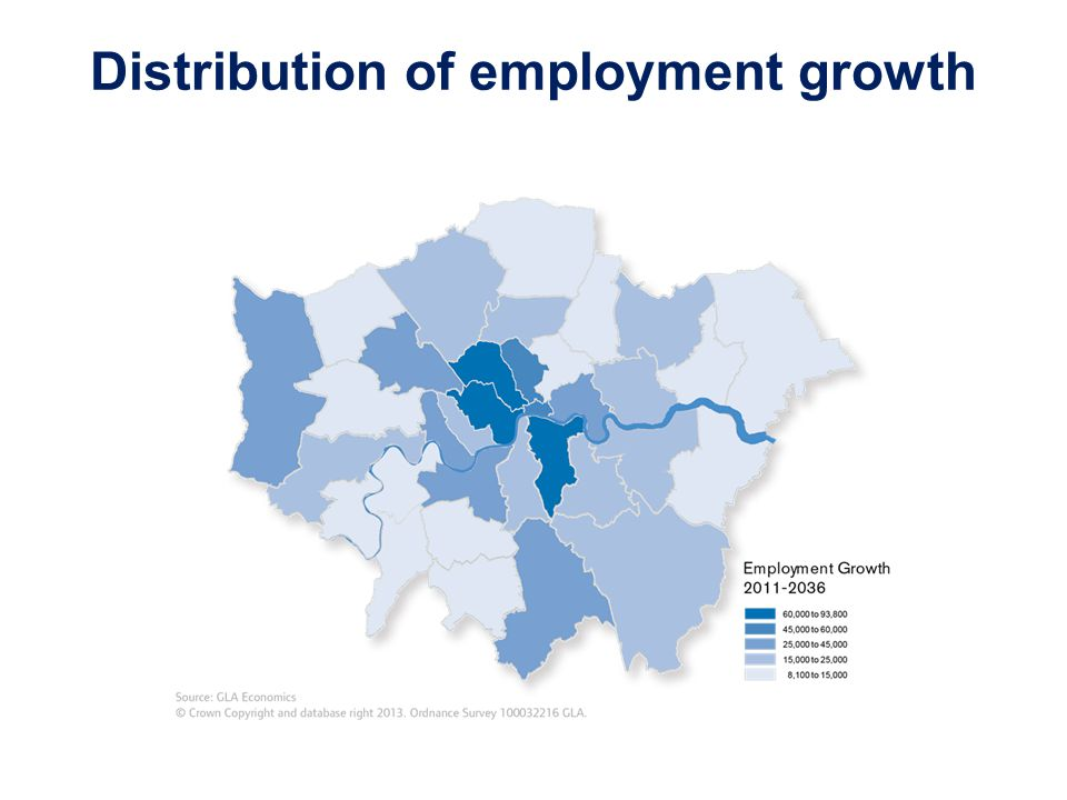 Distribution of employment growth