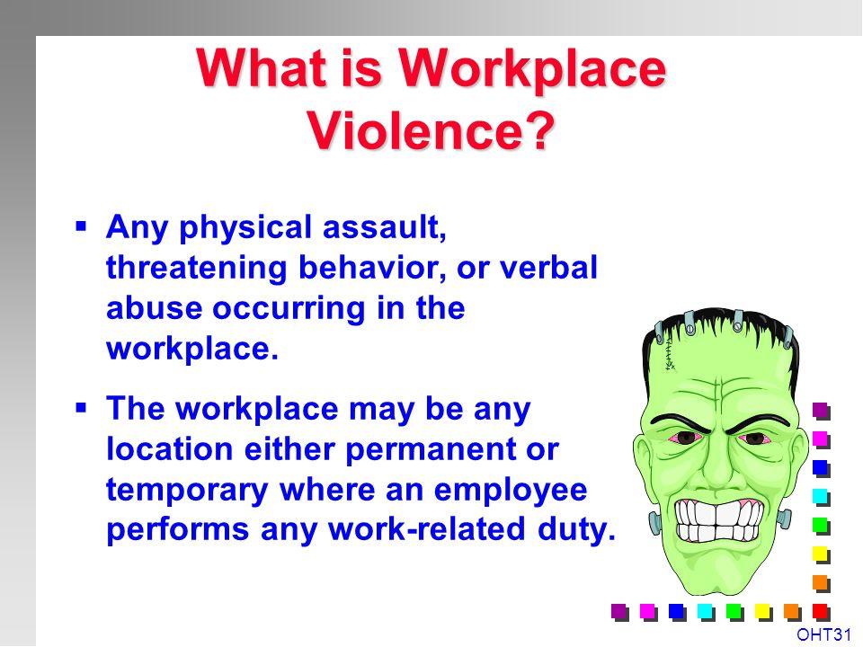 OHT30 Workplace Specific Hazards & Risks? n Slips, Trips & Falls n Manual Handling & Ergonomics n Chemical & Biological Hazards n Physical Hazards n P