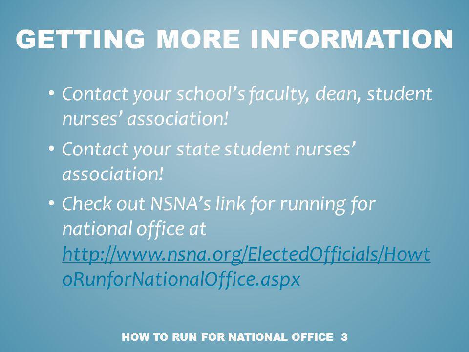 Contact your schools faculty, dean, student nurses association.