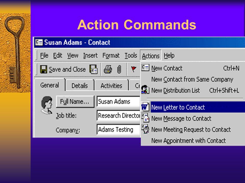 Action Commands