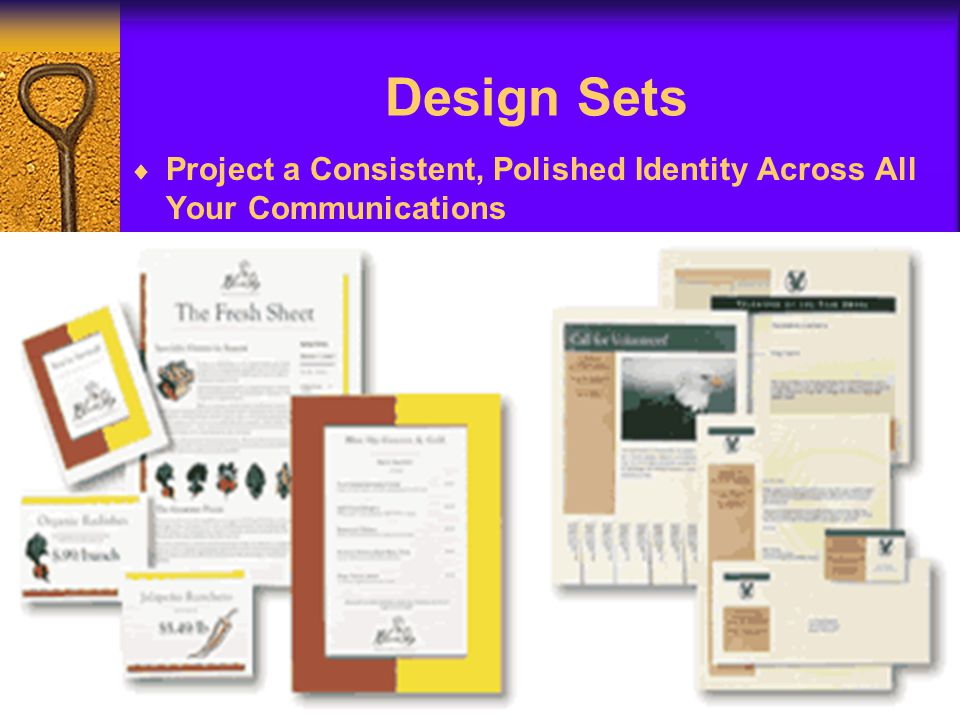 Design Sets Project a Consistent, Polished Identity Across All Your Communications