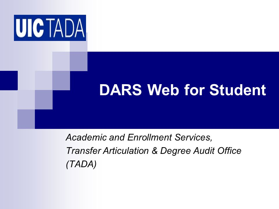 12 DARS Web for Student Reading the Audit Degree Requirements Text.