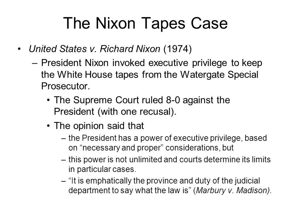 The Nixon Tapes Case United States v.