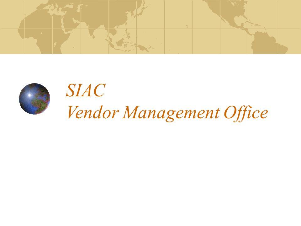 SIAC Vendor Management Office