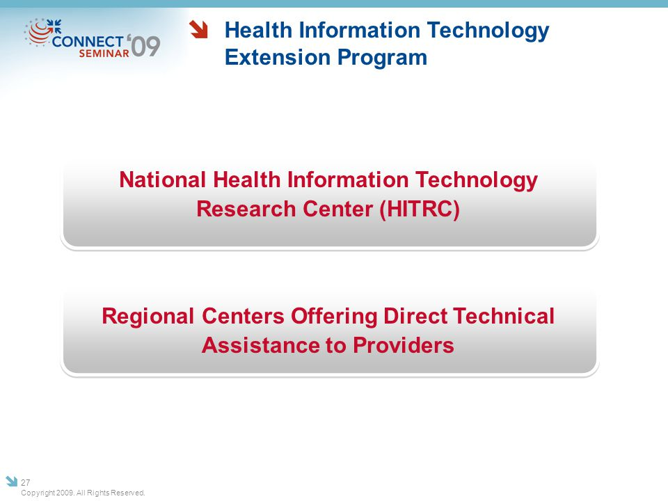 Health Information Technology Extension Program National Health Information Technology Research Center (HITRC) Regional Centers Offering Direct Techni