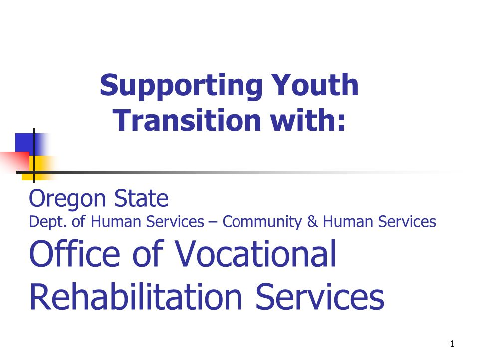 2 OVRS Commitment to Youth The Rehabilitation Act of 1973 as amended reestablished VRs commitment to supporting and collaborating with schools for effective youth transitions.