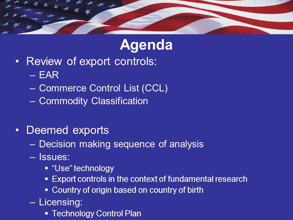 Export Controls Review