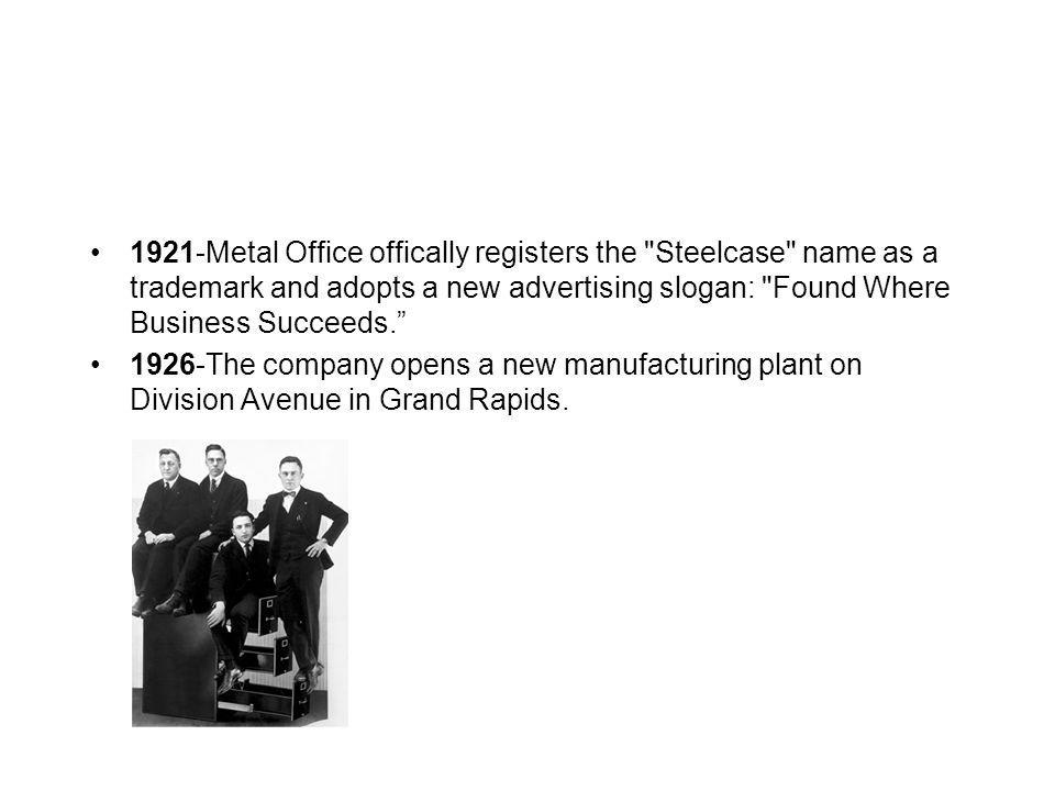 1921-Metal Office offically registers the