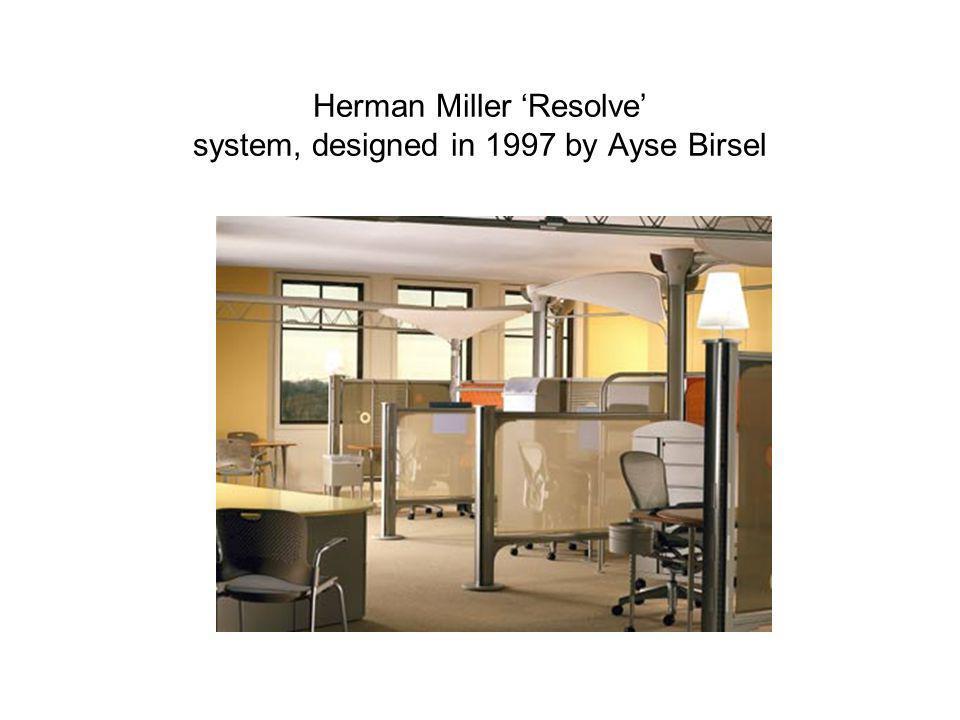 Herman Miller Resolve system, designed in 1997 by Ayse Birsel