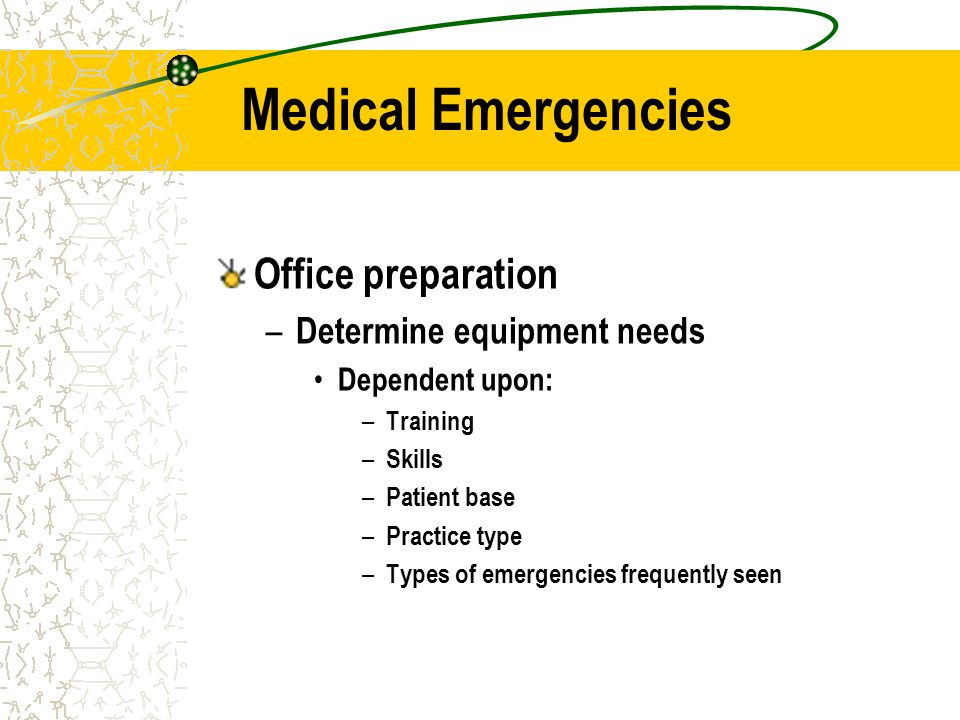 Case Scenario You cant find your emergency drug kit.