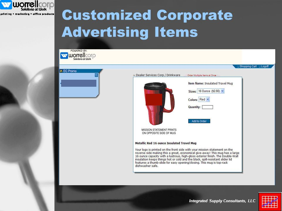 Integrated Supply Consultants, LLC Customized Corporate Advertising Items